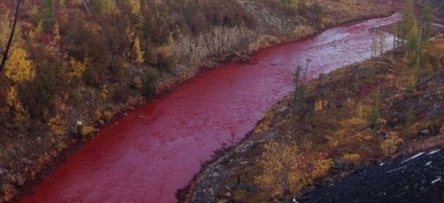 River turns into blood